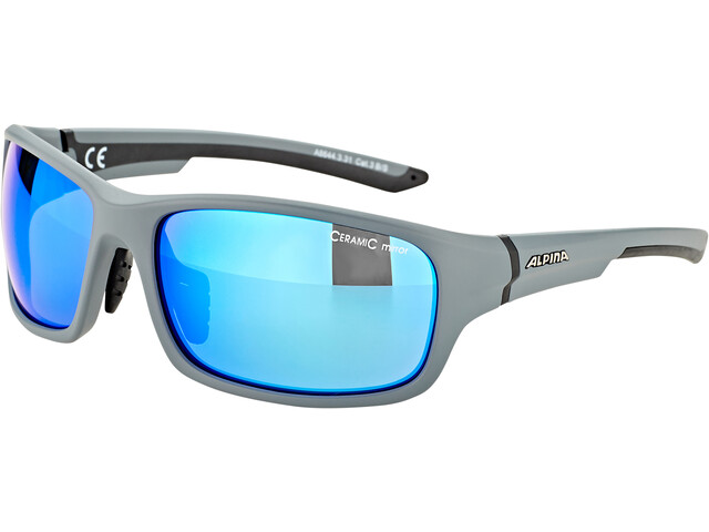 Alpina Lyron S Gafas, cool grey matt-black/blue mirror